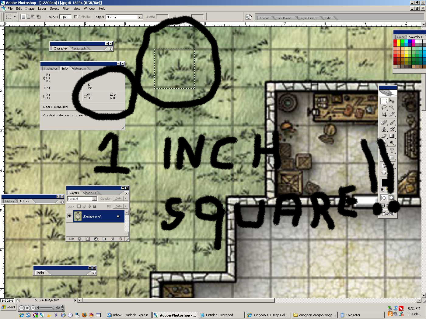 photograph regarding Printable Dnd Grid titled NewbieDM Guidebook Printing Combat Maps toward a 1 Scale www