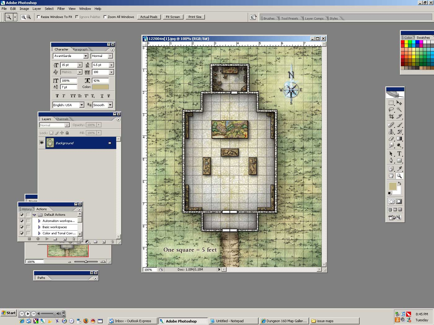 image relating to Printable Dungeon Tiles Pdf named NewbieDM Guidebook Printing Combat Maps in direction of a 1 Scale www
