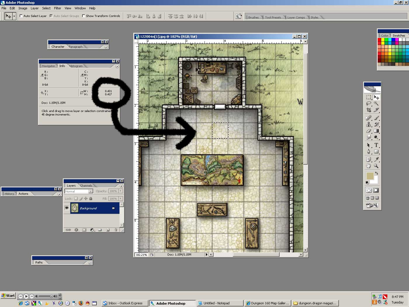 image regarding Printable Dnd Grid called NewbieDM Manual Printing Beat Maps in direction of a 1 Scale www