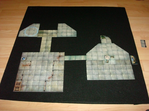 A portable 2'x2' surface for your Dungeon Tiles in under 5 minutes