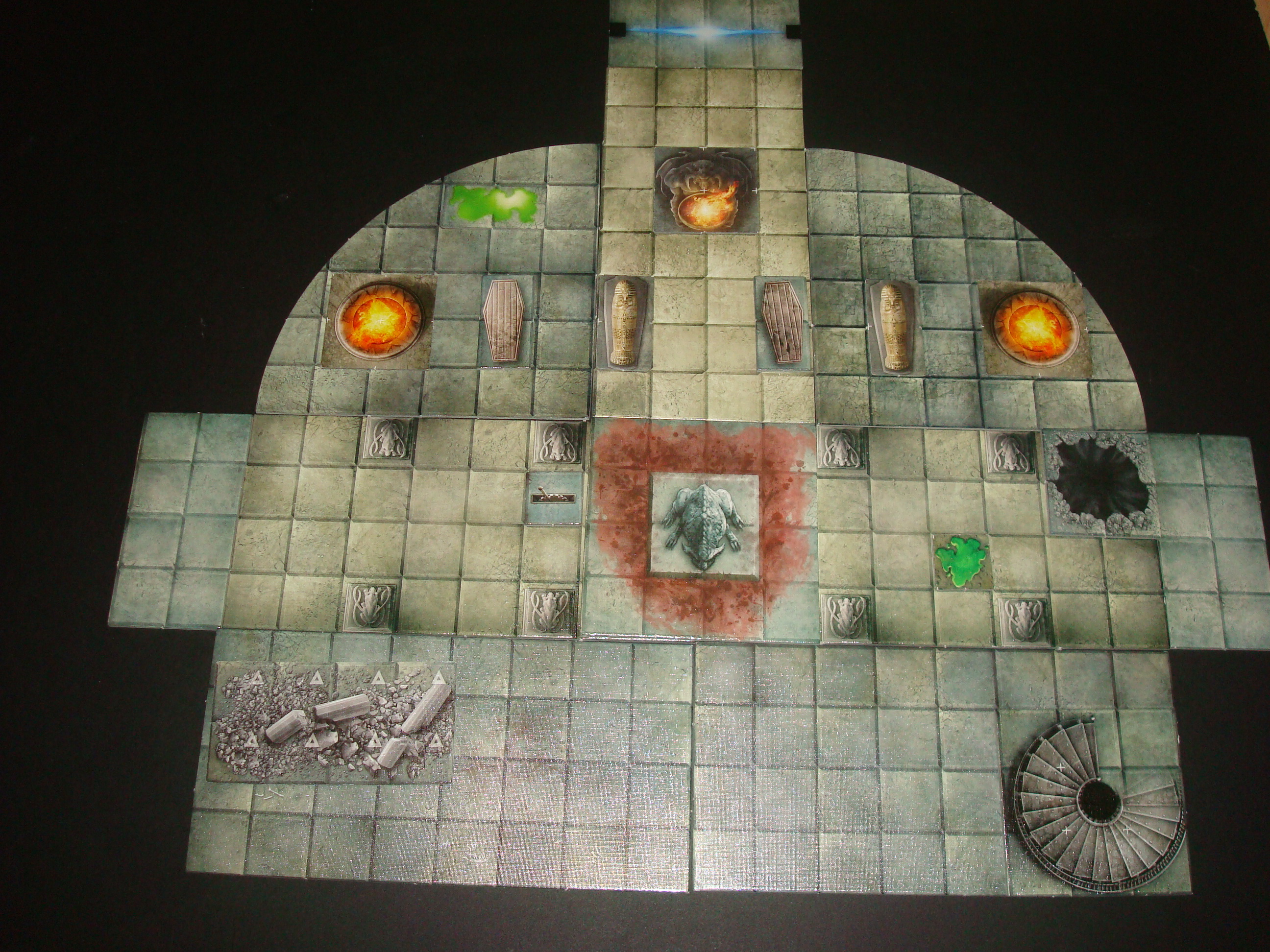 Room Mapper playing with my dungeon tiles | www. newbie dm