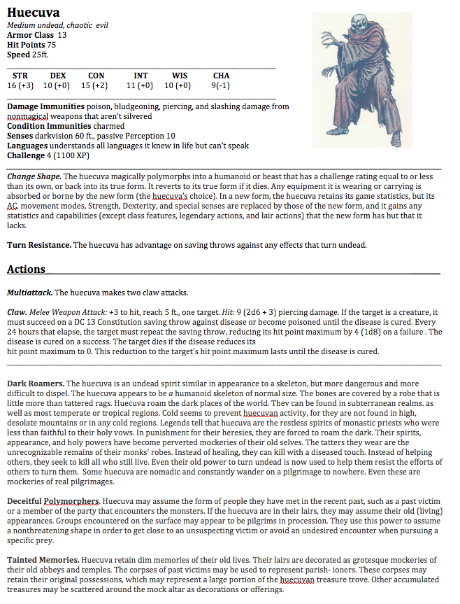 Couple of homebrew 5e monsters… | www  Newbie DM  com